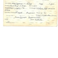 Abair, Fred Anthony WWI Card